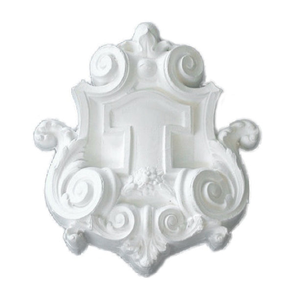 Purchase Decorative Plaster Shield Accents - Item # SHD-99072-PL-2 from Brockwell Incorporated