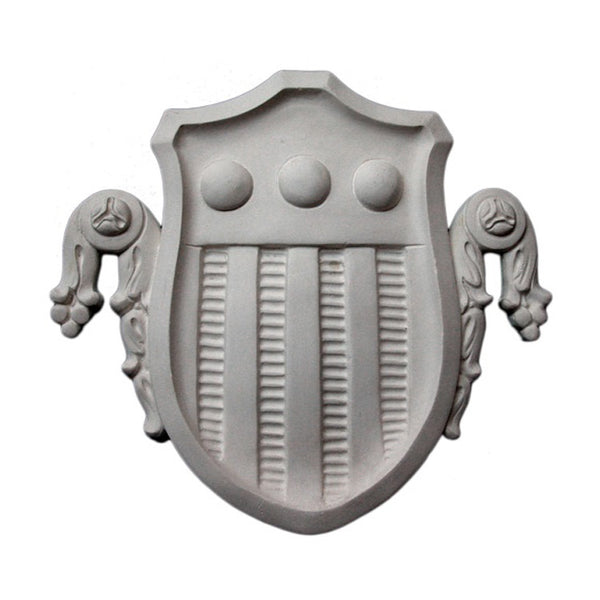 Purchase Decorative Plaster Shield Accents - Item # SHD-5353-PL-2 from Brockwell Incorporated