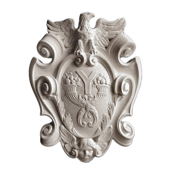 Purchase Decorative Plaster Shield Accents - Item # SHD-0453-PL-2 from Brockwell Incorporated