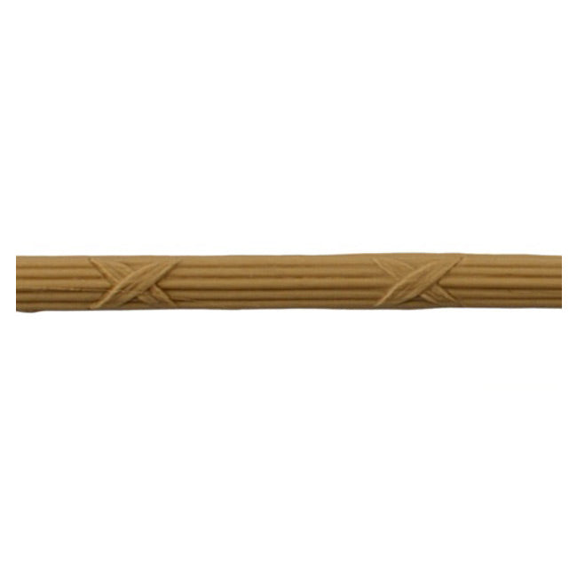"1-1/8""(H) x 1/4""(Relief) - Reed & Ribbon Linear Molding Design - [Compo Material] Online from Brockwell Incorporated"