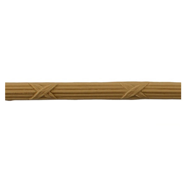 "3/8""(H) x 1/8""(Relief) - Reed & Ribbon Linear Molding Design - [Compo Material] Online from Brockwell Incorporated"