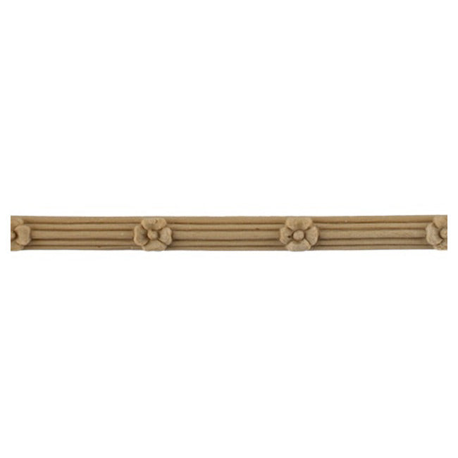 "3/8""(H) x 5/16""(Relief) - French Flower Reeded Linear Molding Design - [Compo Material] Online from Brockwell Incorporated"