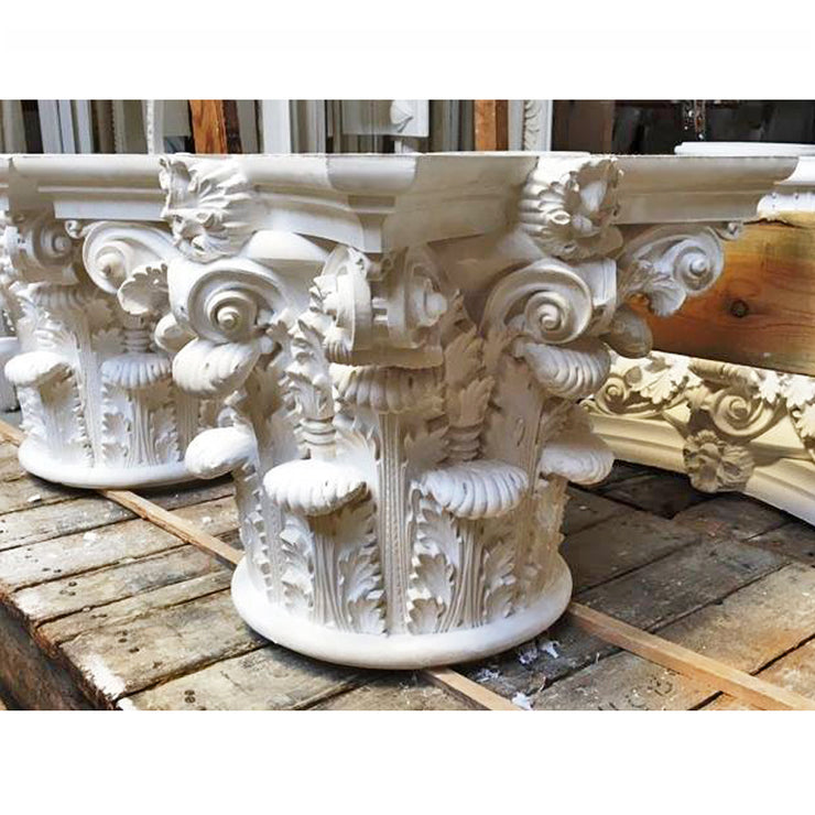 Corinthian Order (Roman) - Pantheon - ROUND Capital - [Plaster Material] - Brockwell Incorporated