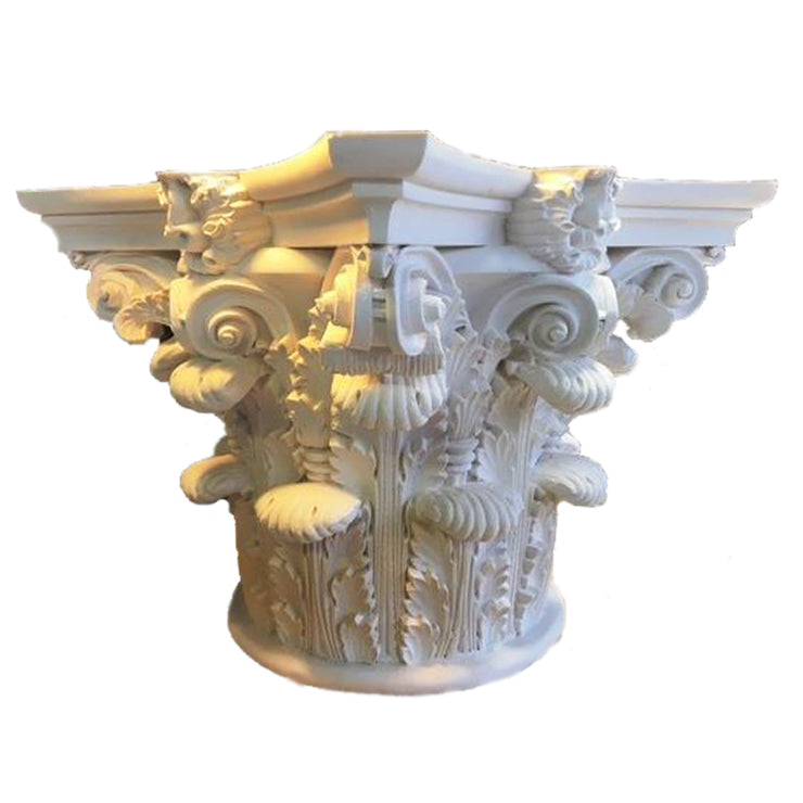 Round Plaster Column Capital - Roman Corinthian Pantheon from Brockwell Incorporated
