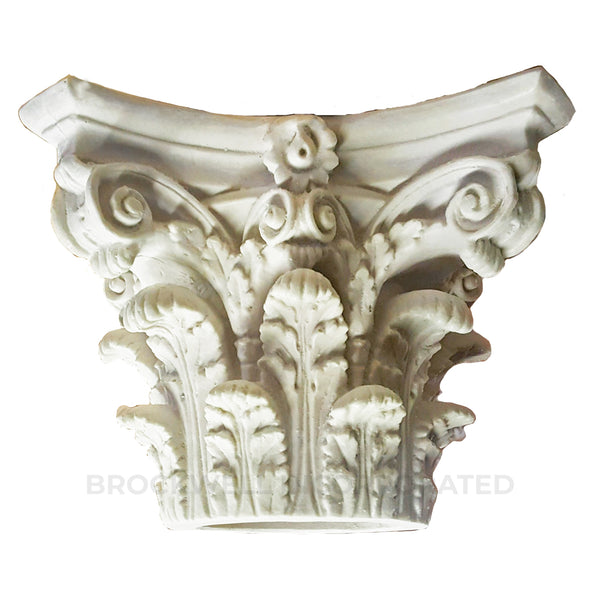 Beautiful Round Roman Corinthian Column Capital Made From Quality Plaster Material