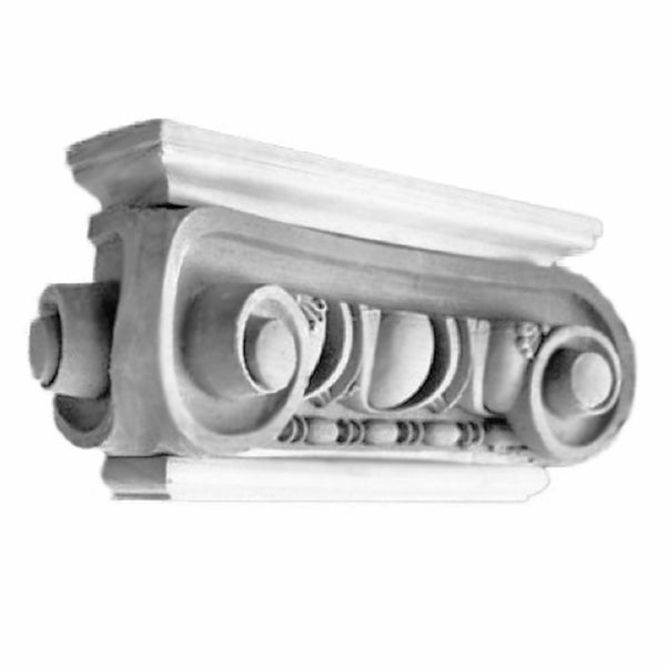 Ionic Order (Roman) - Angular Naples - PILASTER CAP - [Plaster Material] - Brockwell Incorporated