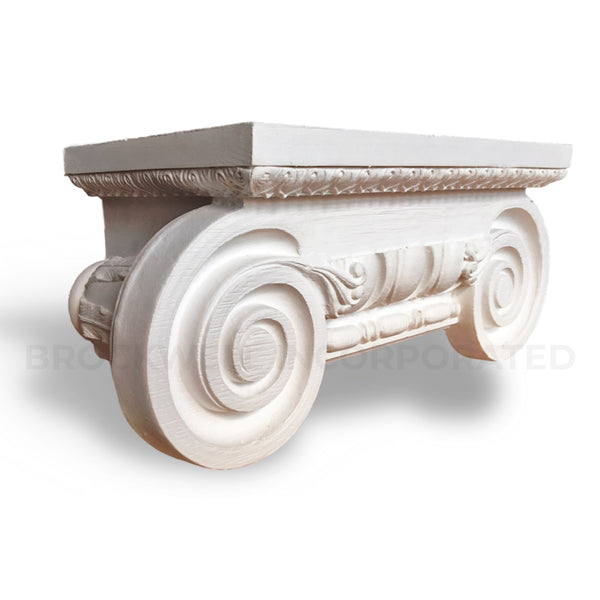 Buy Roman Ionic Half Square Plaster Pilaster Capitals - Brockwell Incorporated