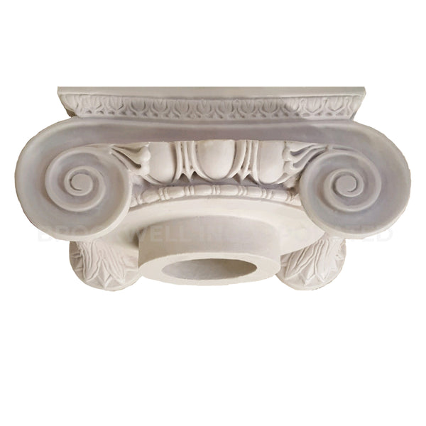 Roman Ionic Plaster Round Column Capital from Brockwell Incorporated