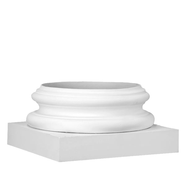 Ionic Order (Attic) Base Molding / Plinth - [Wraps Around] a Round, Composite Column Shaft - [Polyurethane Material] - Brockwell Incorporated