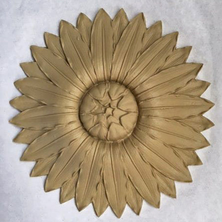"7"" Diameter Round Compo Sunflower Rosette from Brockwell Incorporated"