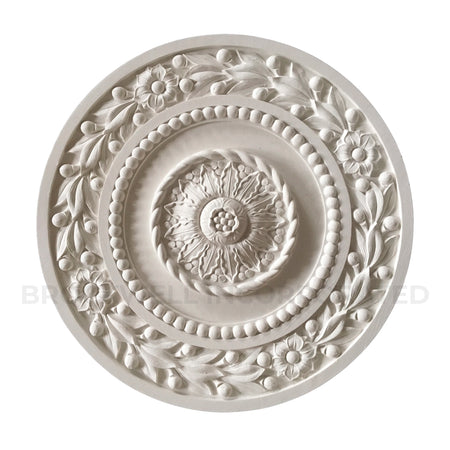 Round Decorative Plaster Empire Style Classical Ceiling Medallion Design from Brockwell Incorporated