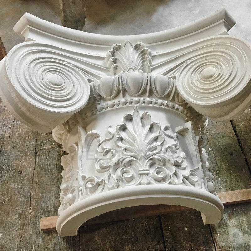 Brockwell can split our decorative round plaster capitals in half