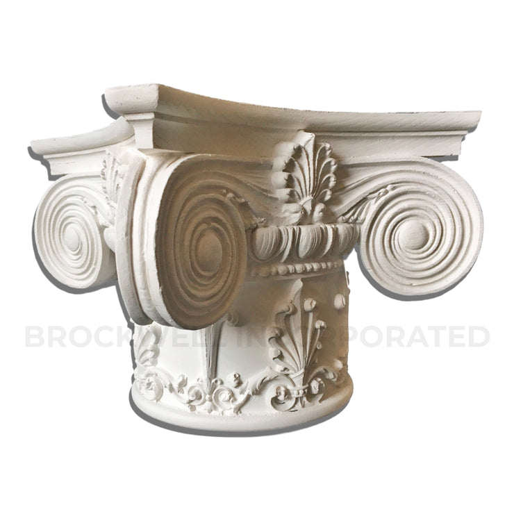 Brockwell Incorporated - Round Ionic Renaissance Chicago Plaster Column Capital
