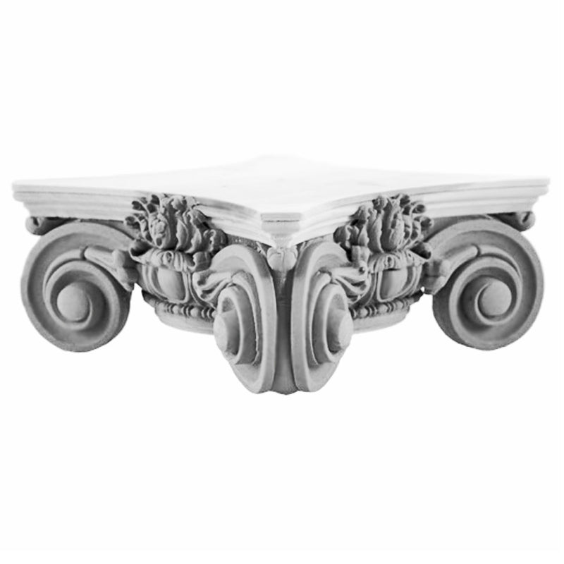 Round Scamozzi Plaster Column Capital Design Great for Interior Home Projects