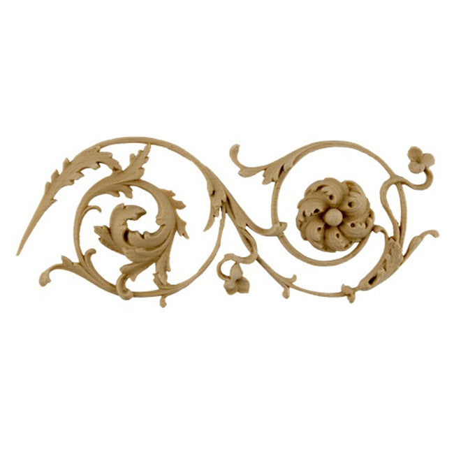 "3""(H) x 3/8""(Relief) - French Renaissance Floral Scroll Linear Molding Style - [Compo Material]-Brockwell Incorporated"