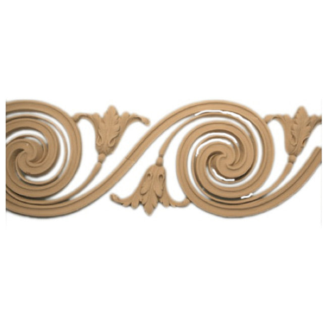 "5""(H) x 1/2""(Relief) - Adam's Style Scroll Linear Molding Design - [Compo Material]-Brockwell Incorporated"