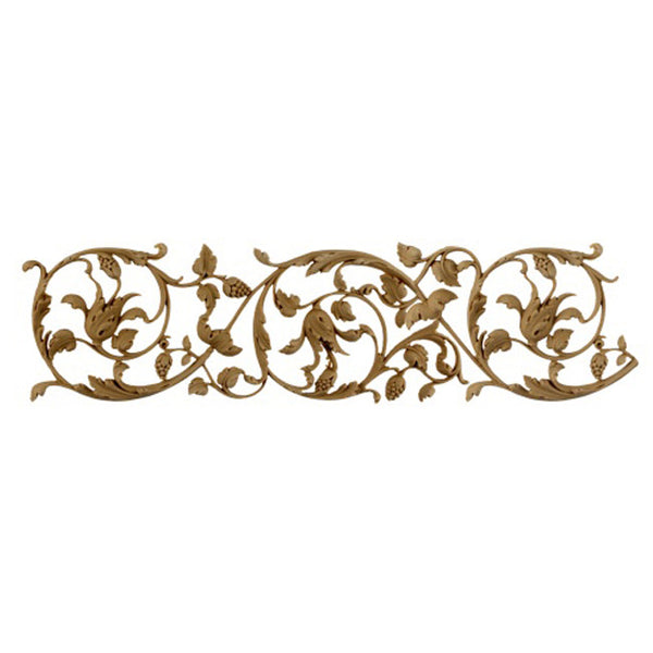 "4""(H) x 1/4""(Relief) - Scroll Linear Molding - Italian Renaissance Design - [Compo Material]-Brockwell Incorporated"