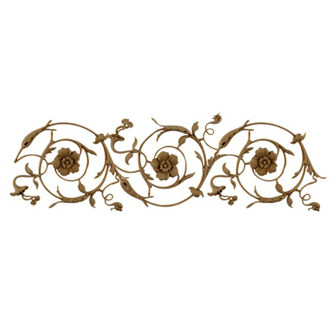 "5""(H) x 1/4""(Relief) - Italian Renaissance Style Scroll Linear Molding Design - [Compo Material]-Brockwell Incorporated"