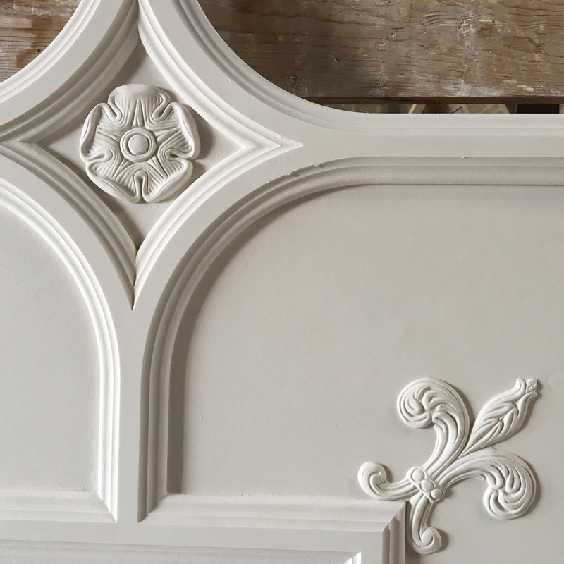 "36-1/2"" Square (Width) x 1-1/8""(Relief) - Old English Smooth w/ Ornament Panel - [Plaster Material]-CEILINGS-Brockwell Incorporated"