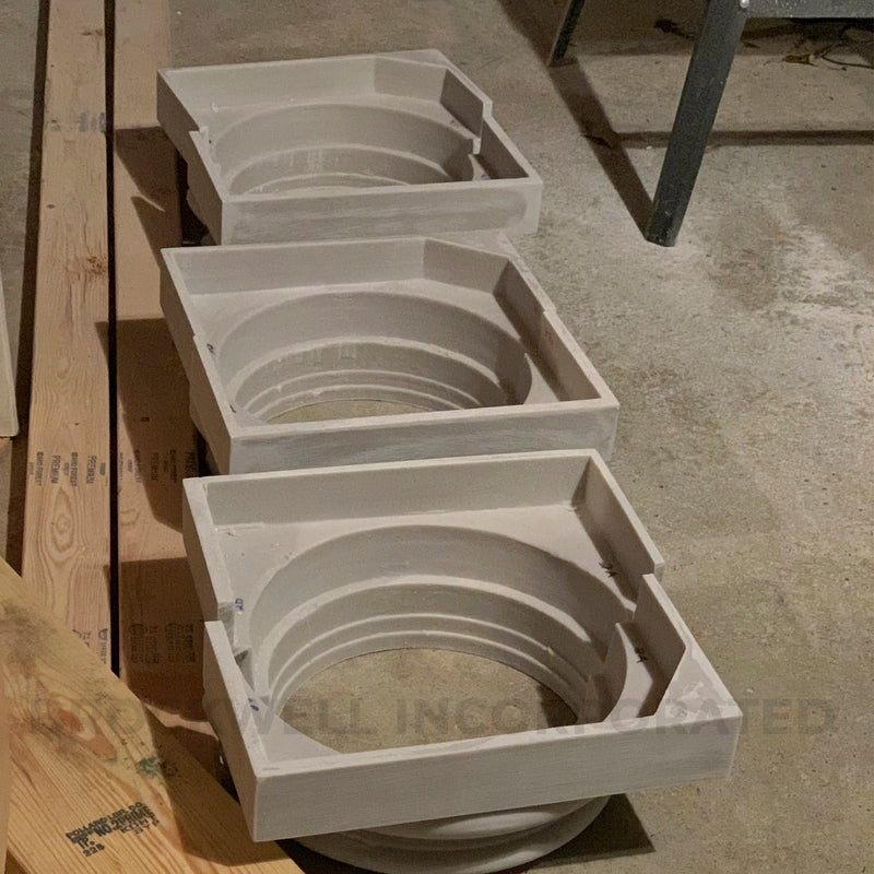 "Split Ionic ""Attic"" Fiberglass Composite Column Base Moldings & Plinth"