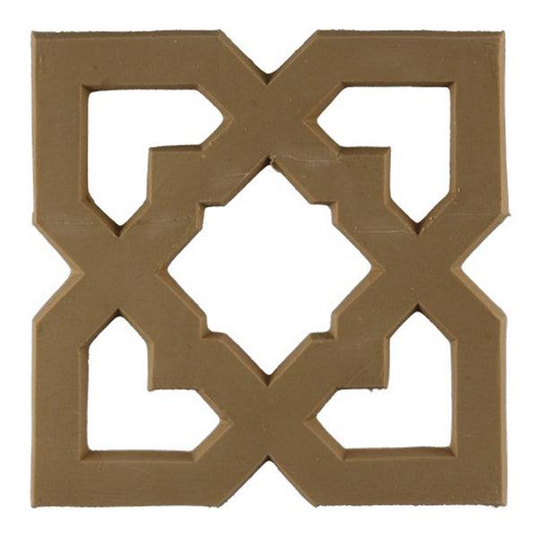 where to buy square resin rosettes online - RST-7967-CP-2 - ColumnsDirect.com