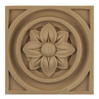 where to buy square resin rosettes online - RST-88811-CP-2 - ColumnsDirect.com