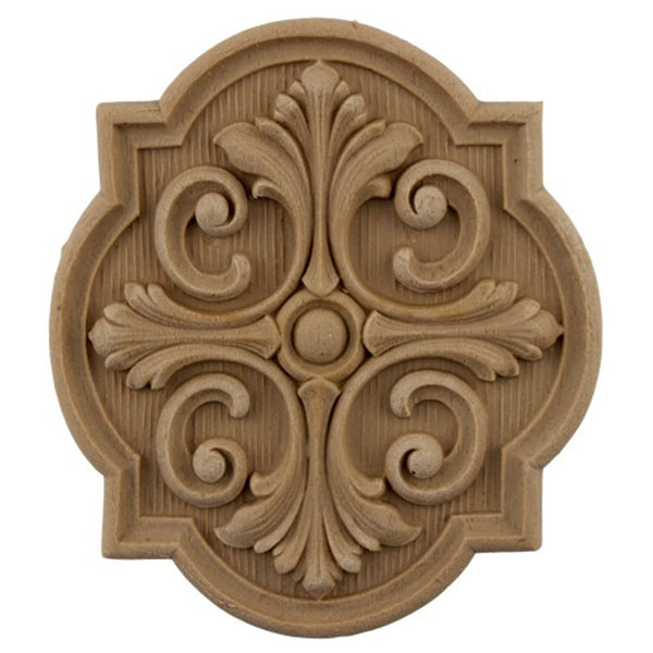 where to buy square resin rosettes online - RST-F3293-CP-2 - ColumnsDirect.com