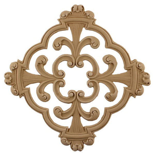 where to buy square resin rosettes online - RST-F1304-CP-2 - ColumnsDirect.com