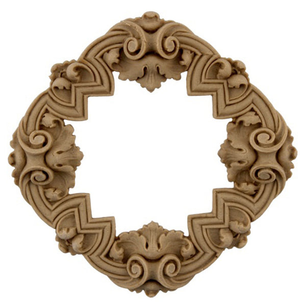 where to buy square resin rosettes online - RST-F7874-CP-2 - ColumnsDirect.com