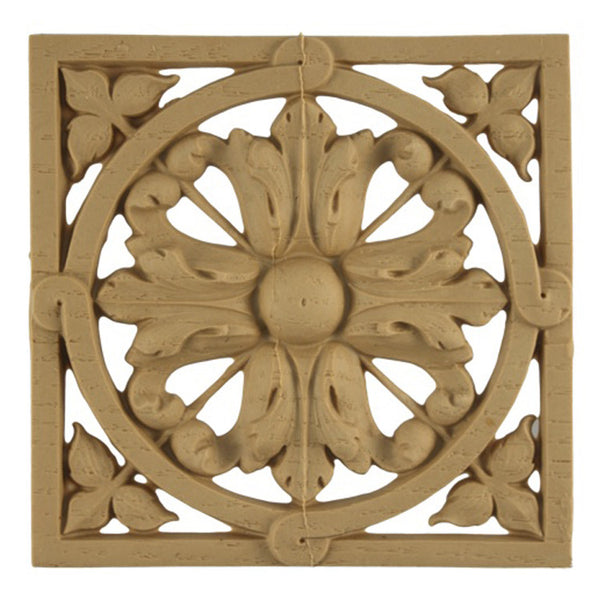where to buy square resin rosettes online - RST-7005-CP-2 - ColumnsDirect.com
