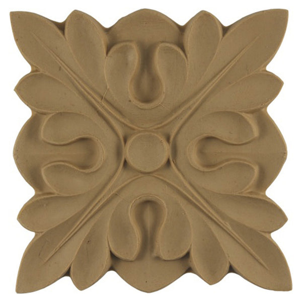 where to buy square resin rosettes online - RST-3235-CP-2 - ColumnsDirect.com