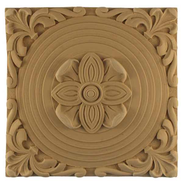 where to buy square resin rosettes online - RST-1355-CP-2 - ColumnsDirect.com