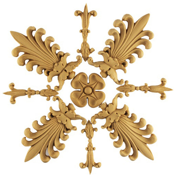 where to buy square resin rosettes online - RST-9355-CP-2 - ColumnsDirect.com
