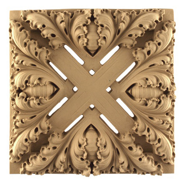 where to buy square resin rosettes online - RST-5346-CP-2 - ColumnsDirect.com