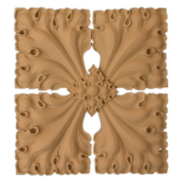where to buy square resin rosettes online - RST-6346-CP-2 - ColumnsDirect.com