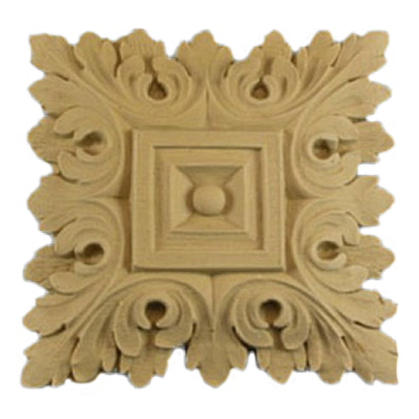 where to buy square resin rosettes online - RST-F0727-CP-2 - ColumnsDirect.com