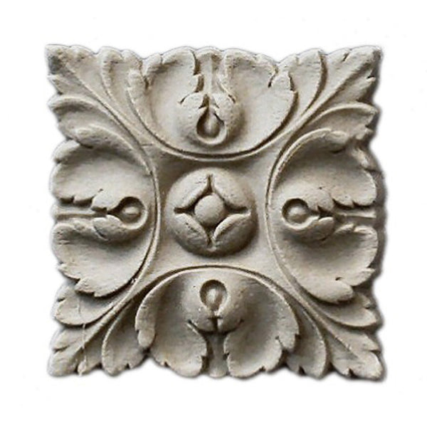 where to buy square resin rosettes online - RST-F1911-CP-2 - ColumnsDirect.com