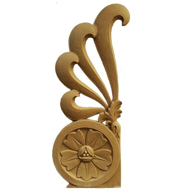 "ColumnsDirect.com - 5""(W) x 10-1/8""(H) x 1/4""(Relief) - Floral Classic Style Stair Bracket Design - [Compo Material]"