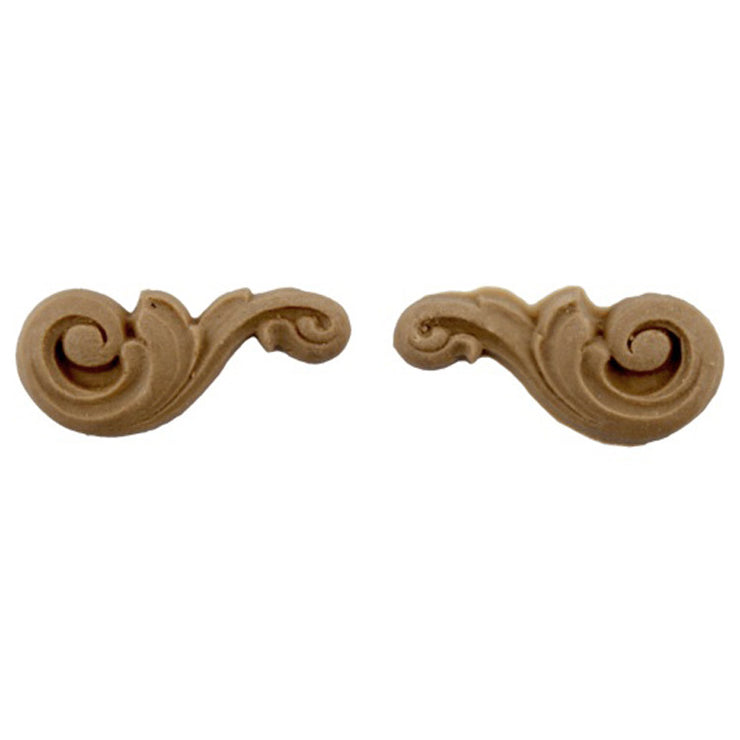 "ColumnsDirect.com - 2""(W) x 7/8""(H) - Small Floral Stair Bracket Design (PAIR) - [Compo Material]"