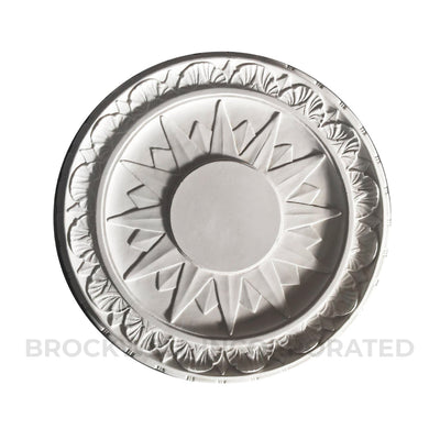 Plaster Startburst Colonial Ceiling Medallion Design with Closed Center - Brockwell Incorporated