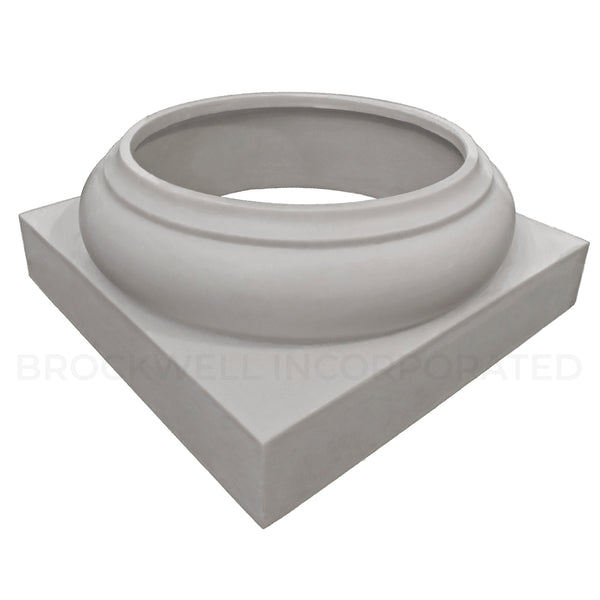 Tuscan Wrap Around Replacement Fiberglass Column Base from Brockwell Incorporated