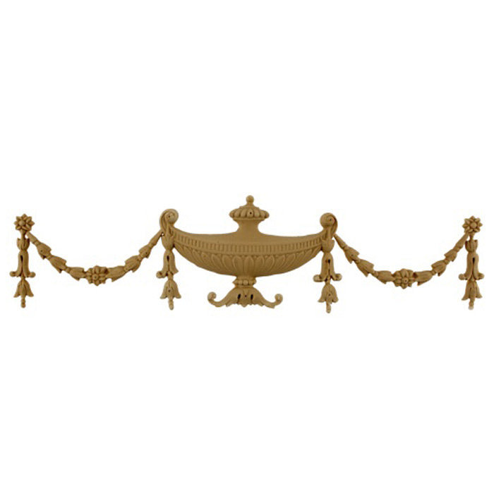 Urn Resin Appliques for Wood Fireplace Mantels - URN-F1491-CP-2 - Buy Online at ColumnsDirect.com