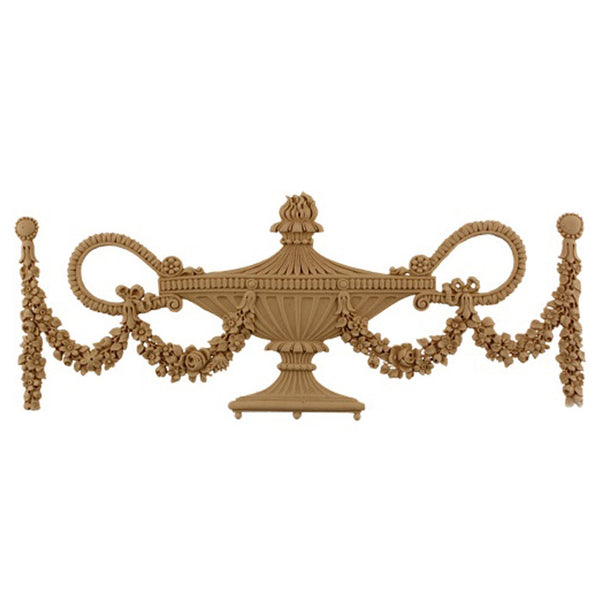 Urn Resin Appliques for Wood Fireplace Mantels - URN-F0714-CP-2 - Buy Online at ColumnsDirect.com