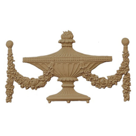 Urn Resin Appliques for Wood Fireplace Mantels - URN-F8714-CP-2 - Buy Online at ColumnsDirect.com