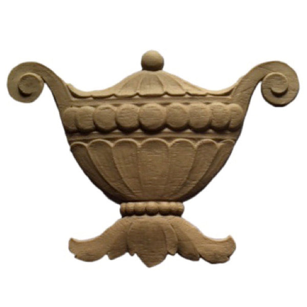 Urn Resin Appliques for Wood Fireplace Mantels - URN-F1645-CP-2 - Buy Online at ColumnsDirect.com