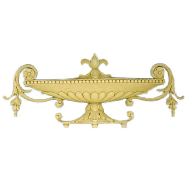 Urn Resin Appliques for Wood Fireplace Mantels - URN-F6645-CP-2 - Buy Online at ColumnsDirect.com