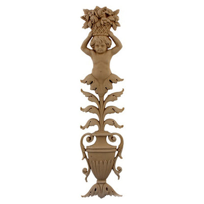 Urn Resin Appliques for Wood Fireplace Mantels - URN-F9455-CP-2 - Buy Online at ColumnsDirect.com