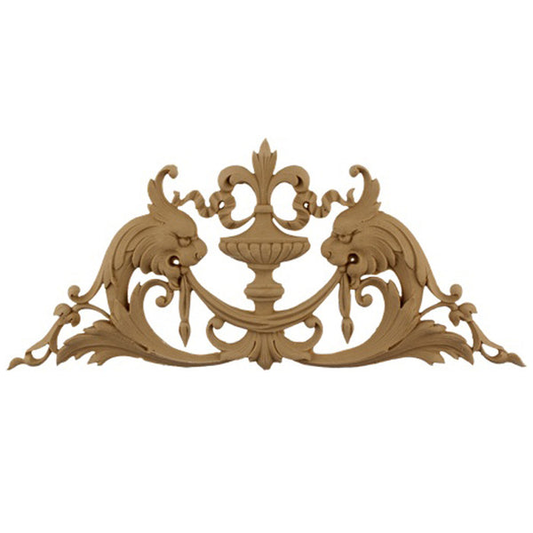 Urn Resin Appliques for Wood Fireplace Mantels - URN-F5855-CP-2 - Buy Online at ColumnsDirect.com