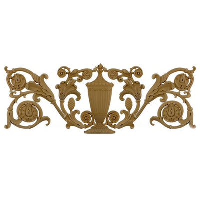 Urn Resin Appliques for Wood Fireplace Mantels - URN-1375-CP-2 - Buy Online at ColumnsDirect.com