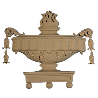 Urn Resin Appliques for Wood Fireplace Mantels - URN-9375-CP-2 - Buy Online at ColumnsDirect.com